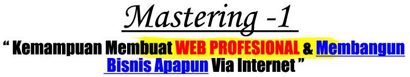 kemampuan membuat web profesional